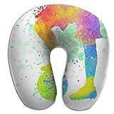 U Neck Pillow Soccer Kid Airplane Office Travel Memory Foam U Shape Pillow