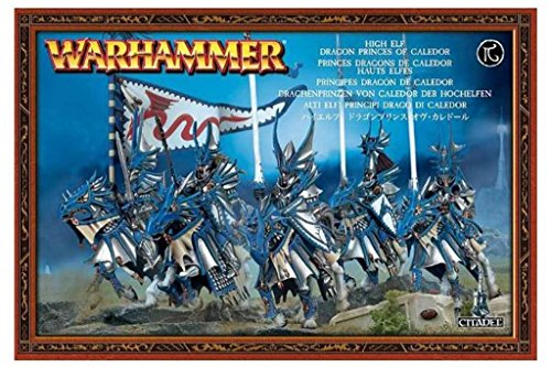 Games Workshop Warhammer High Elves: Dragon Princes of Caledor Citadel Miniatures Set