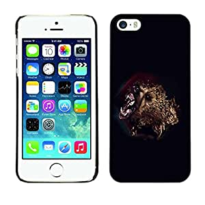 LECELL -- Funda protectora / Cubierta / Piel For Apple iPhone 5 / 5S -- Bear Attack --