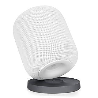 WAWAHA Aluminum HomePod Stand Non-Slip HomePod Coaster with Rubber Mats for HomePod Speaker (Gray)