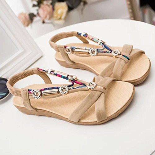 Sandalias Amiley Chanclas De Zapatillas Para Mujer, Sandalias Zapatos Sandalias De Tacón Bajo Sandalias Beige