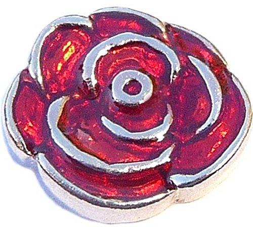 Red Rose Floating Locket Charm ()