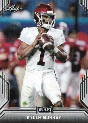50 card lot x 2019 Leaf Draft Rookie (RC) KYLER MURRAY OKLAHOMA Wholesale investment lot + BONUS free pack of 2018 Score Football (look for possible autographs, relics, Barkley and Mayfield RC) - all cards near mint+ from Leaf