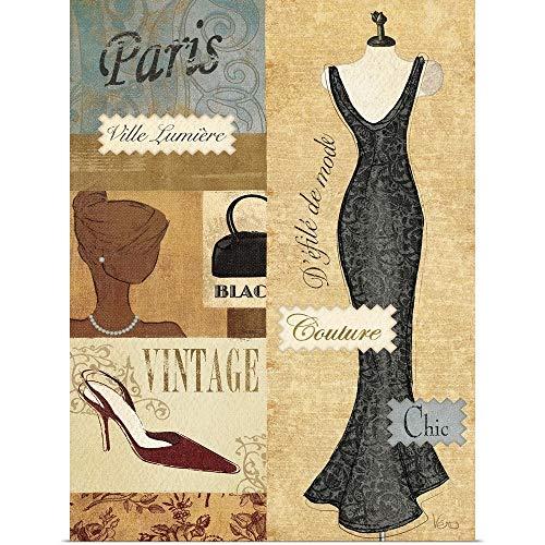 GREATBIGCANVAS Poster Print Entitled Couture Paris II by Veronique Charron 27