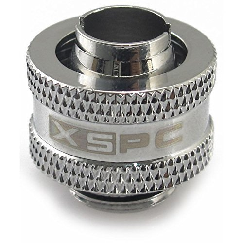XSPC G1/4'' to 1/2'' ID, 3/4'' OD Compression Fitting (Chrome) V2 Pack of 4