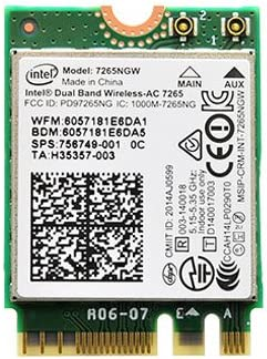 Amazon.com: Intel Dual Band Wireless-AC 7265 802.11ac, Dual ...