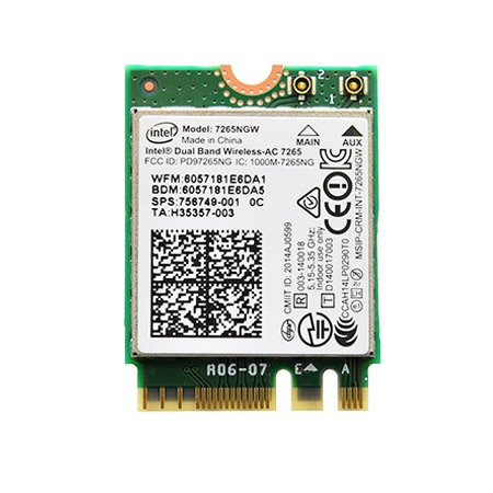 Intel Dual Band Wireless-AC 7265 802.11ac, Dual Band, 2x2 Wi-Fi + Bluetooth 4.0 - (7265NGW) by Intel
