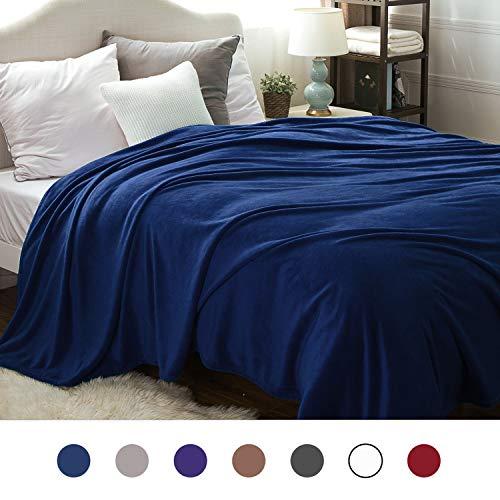 Amazon Com Bedsure Flannel Fleece Luxury Blanket Navy