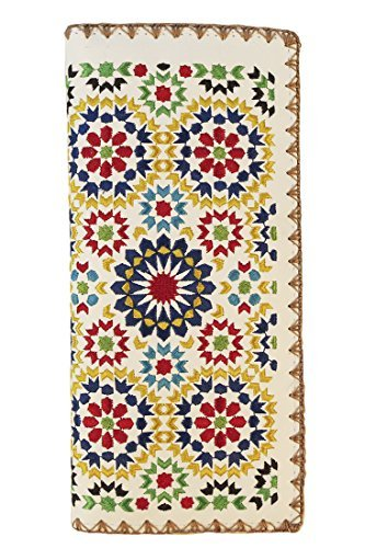 Wallet Embroidered (Lavishy Embroidered Large Morocco Wallet White)