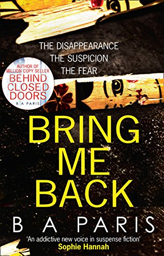 Image result for Bring Me Back by B. A. Paris