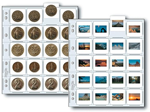 Print File 35mm Slide Pages Holds Twenty 2x2'' Mounted Transparencies, Top Loading, Pack of 500 by Print File