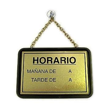 Rotulauto - Placa Horario-Gracias X S/Visit.Pl.: Amazon.es ...