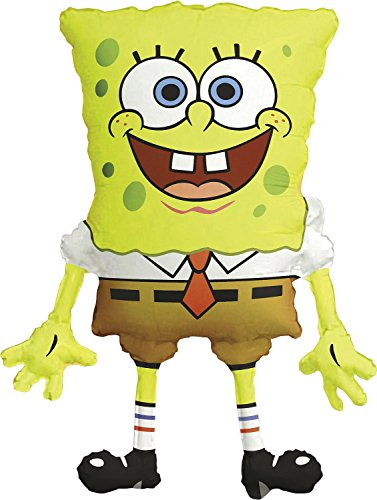 Anagram International M6398901 SpongeBob Square Pants Shape Balloon Pack, 28