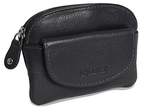 SADDLER Womens Black Compact Soft Nappa Leather
