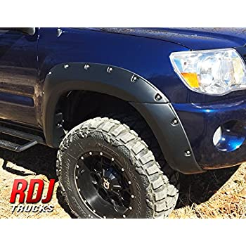 2005-2013 Toyota Tacoma With OEM Flares Stainless Steel Fender Trim