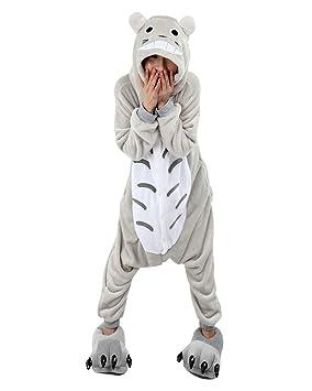 Keral Kigurumi Pijamas Adulto Anime Cosplay de Halloween Traje Outfit_Totoro_S