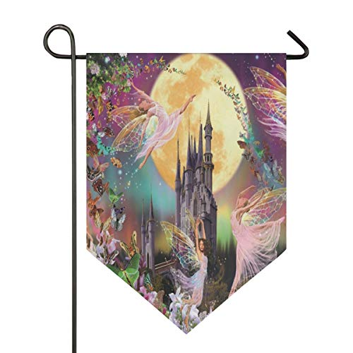 Butterfly Elf Garden Flag Indoor & Outdoor Decorative Flags for Parade Sports Game Family Party Wall Banner Season Porch Lawn Double Sided 28 x 40 inches