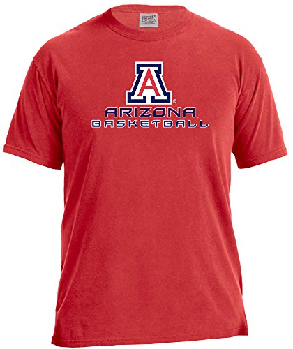 s Basketball Energy Short Sleeve Comfort Color Tee, Large,Red (Arizona Wildcats Basketball Jersey)