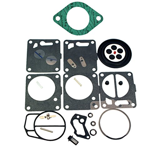 (Compatible With Sea-Doo) Carb Carburetor Rebuild Repair Kit with Base Gasket Fits MANY 1997-2001 SP SPI GTS GS GTI