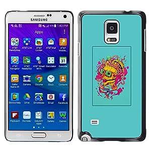 """For Samsung Galaxy Note 4 Case , Cerebro Pensamiento colorido Arte de la pintura del retrato"""" - Diseño Patrón Teléfono Caso Cubierta Case Bumper Duro Protección Case Cover Funda"""