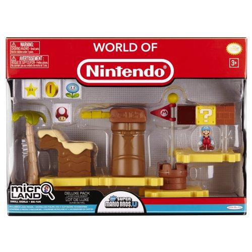 Nintendo Mario Bros Universe Micro Deluxe Pack Wave 1: Layer Cake Desert Ice Mario Playset (Aquarium Decorations Nintendo)