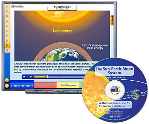 NewPath Learning The Sun-Earth-Moon System Multimedia Lesson, Single User License, Grade 6-10 - Earth Moon System