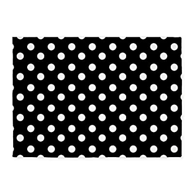 CafePress - Black And White Polka Dots Pattern - Decorative Area Rug, 5'x7' Throw Rug