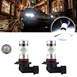 cciyu 2 Pack Xenon White 9005 HB3 60W 6000LM Cree LED 12SMD DRL Daytime Light High Power