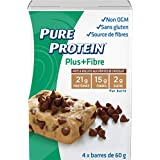 Pure Protein Plus Chocolate Chip Cookie Dough Bar, 4 Count