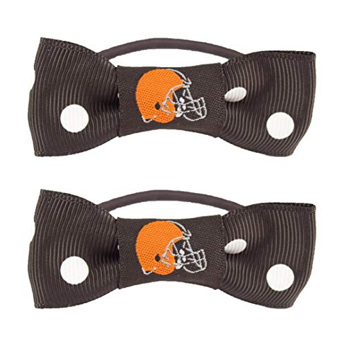 NFL Cleveland Browns Bow Pigtail Holder, - Ties Pigs