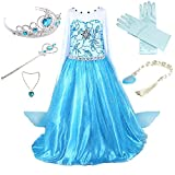 Anbelarui Girls New Princess Party Cosplay Costume Long Dress up 3-9 Years (4-5 Years, 01 Dress&Accessories Set)