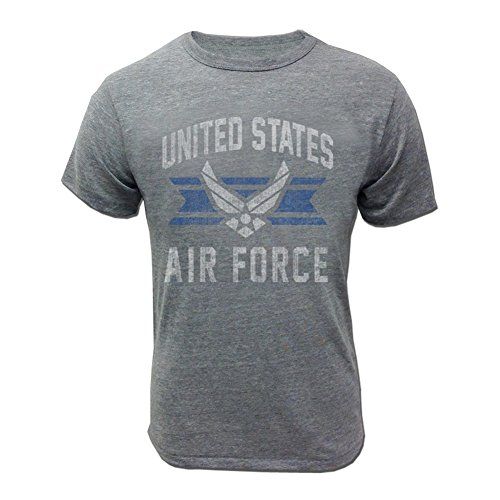 Armed Forces Gear Men's Air Force Vintage Basic T-Shirt, small,Grey