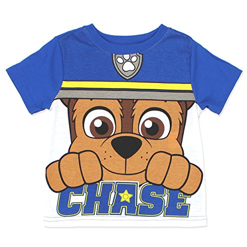 Puppy Dog Costume 4t (Paw Patrol Marshall Chase Costume Style Boys and Girls Tee Shirt (4T, Chase SS))