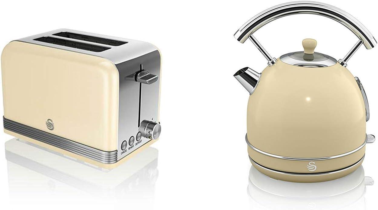 Nuevo Swan Cocina Electrodoméstico Retro Juego - Crema Digital 20L ...