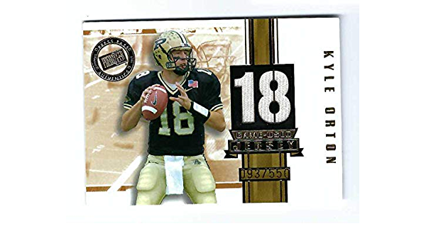 KYLE ORTON 2005 Press Pass SE Game-Used JERSEY GOLD PARALLEL ...
