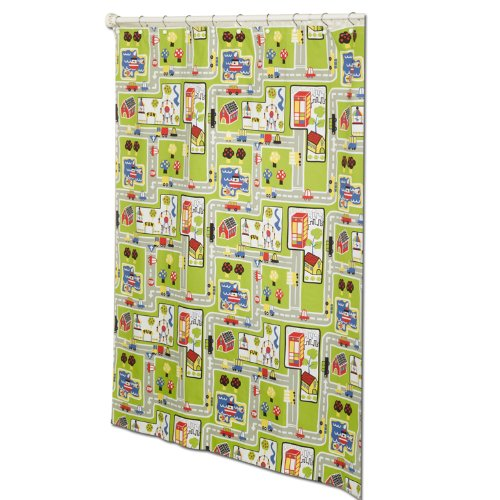 ZPC Zenith Products Corporation Zenna Home ARO1941371, Around The Town Decorative Shower Curtain, PEVA, Multi-Color ()