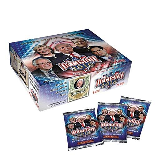 Decision 2016 Hobby Box DONALD TRUMP/CLINTON/SANDERS/CRUZ/RUBIO Hot! ()