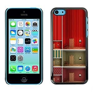 FECELL CITY // Duro Aluminio Pegatina PC Caso decorativo Funda Carcasa de Protección para Apple Iphone 5C // Minimalist Wallpaper Deep Design