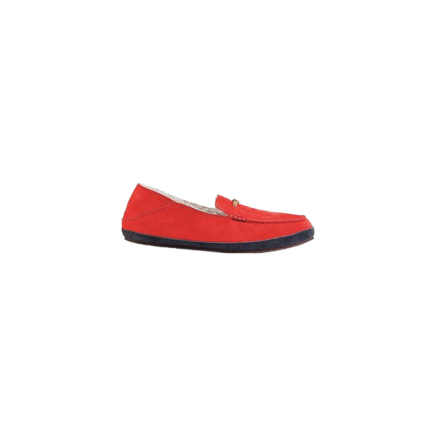 OluKai Women's Pa'Ani Slipper Grenadine/Dark Shadow Nubuck 8 Medium