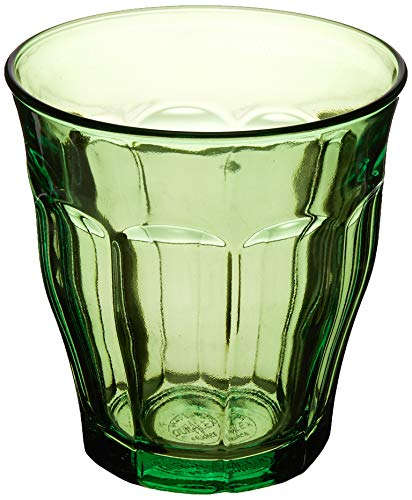 (Duralex 1027SR06SC/6 Picardie Glass Tumbler (Set of 6), 8.75 oz, Green )