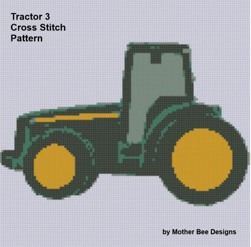 Tractor 3 Cross Stitch Pattern (English Edition)