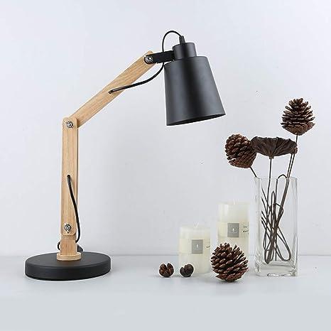 sur des coups de pieds de tout à fait stylé produits chauds Lampe de table en bois bureau chambre lampe de chevet en fer ...
