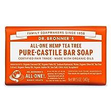 Dr. Bronner's Magic Soap Tea Tree Bar Soap, 140-Gram