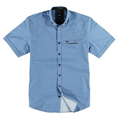 engbers Herren Hemd kurzarm, 23943, Blau