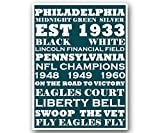 """Philly Eagles Poster Subway Style Art Football NFL Print 12x16"""""""