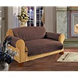 Elegant Comfort Quilted Furniture Protector For Pet Dog Children Kids Cotton Love Seat, Chocolate