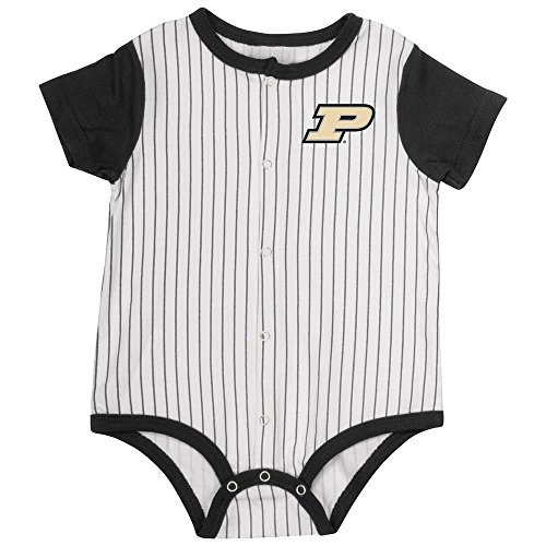 Colosseum Infant Purdue Boilermakers Baseball Pinstripe Bodysuit - 6 to 12 Months