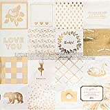 American Crafts 375855 Maggie Holmes Gather 12 X 12 inch Gold Foil On Acetate Found