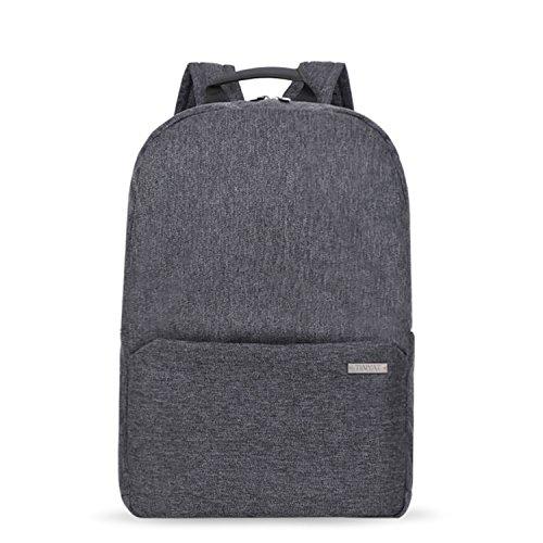 Crinkle Nylon Wallet Travel (TINYAT Satchel Backpack College Student Book Bag Crinkle Nylon T801 (Deep Grey))