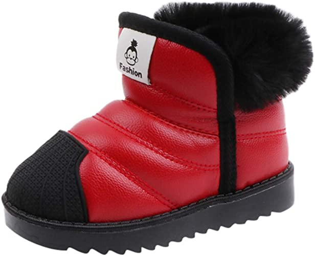 Toddler Kids Baby Boys Girls Cute Snow Boots Waterproof Winter Warm Casual Shoes